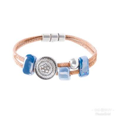歐洲直送-南歐品牌Artelusa葡萄牙製湛藍寶石軟木手環/Azuis