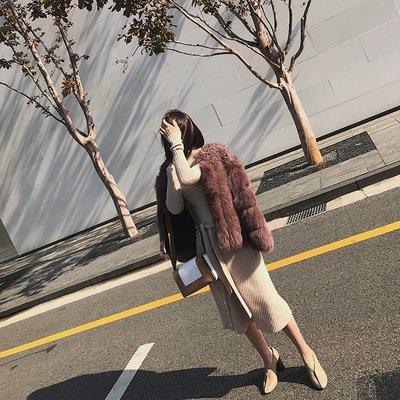 'OVERCOAT'定制5色 進口狐貍毛拼接小圓花羊毛皮草外套 女