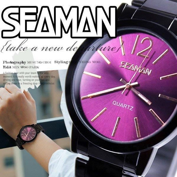 【 贈盒】SEAMAN雜誌極簡 ck風大錶面設計 男女百搭款 ☆匠子工坊☆【UT0078】-鋼