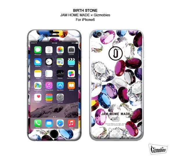 GOODFORIT / 日本Gizmobies JAM HOME MADE iPhone 6/6S聯名款誕生石主題手機貼