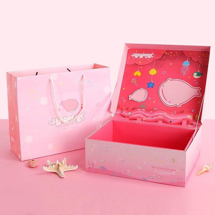 奇奇店-六一兒童節卡通禮盒禮物嬰兒寶寶衣服包裝盒立體送女孩禮品盒紙盒#浪漫清新 #爆款精美禮盒 #送禮推薦