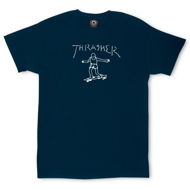 (安心胖) Thrasher Gonz T-Shirt By Mark Gonzales XL