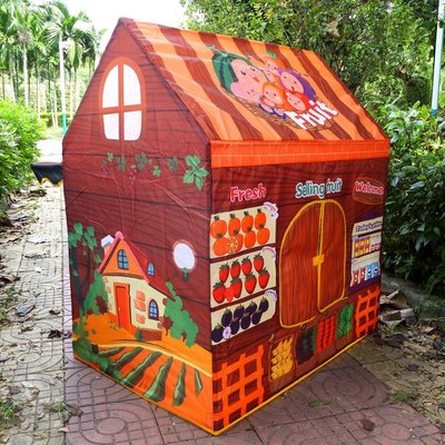 ☆:+:MR.BBOY:+:☆ 外銷歐美 兒童玩具帳篷 水果模擬店長 農夫市集 一日店長 辦家家酒 可當球屋球池~