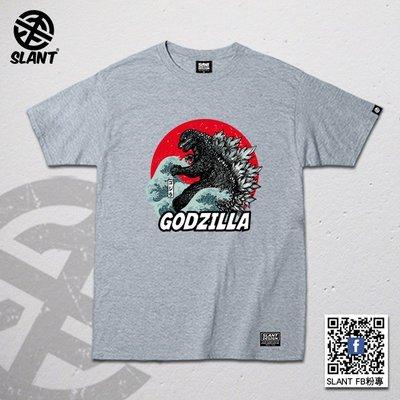 SLANT 哥吉拉 Godzllia ゴジラ 日本怪獸電影 酷斯拉 巨型蜥蜴 短袖T恤 純棉T恤 多色可選