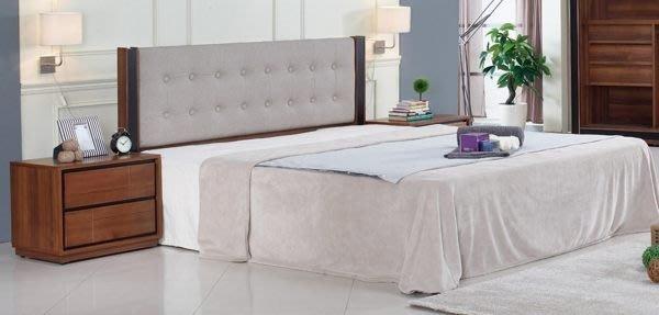 【DH】商品貨號N530-8商品名稱《杰姆》6尺淺胡桃雙人床套檯(圖一)床片+床底。不含床頭櫃。備5尺。主要地區免運費