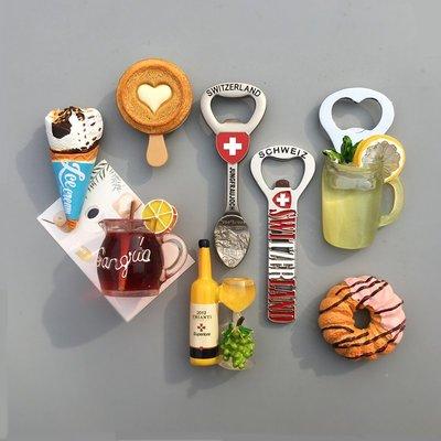 千禧禧居~北歐ins風 冰淇淋雪糕甜甜圈 啤酒開瓶器 瓶起子冰箱貼 磁貼 結婚