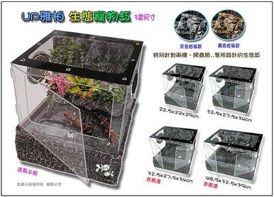 【魚舖子水族】UP雅柏 生態寵物缸 (32.5cm灰色款)~便宜賣