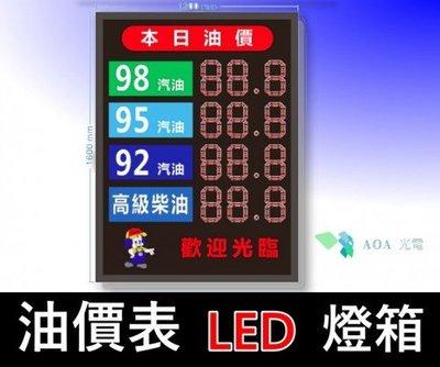 油價表LED燈箱/價格表看板內崁用油價數字錶油價屏加油站價表各油價品價表加油站led加油價目牌油價價目led屏