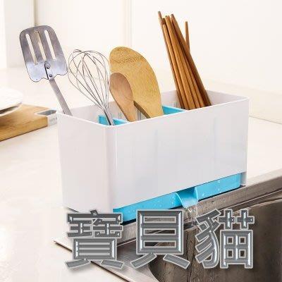 【Baby cat shop】炫彩 瀝水 方形 筷籠 筷子盒 廚房 置物架