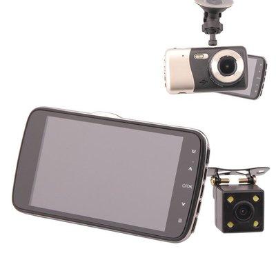 ☆福利品☆ 雙鏡頭行車記錄器 130度廣角/4吋螢幕/支持倒車顯影