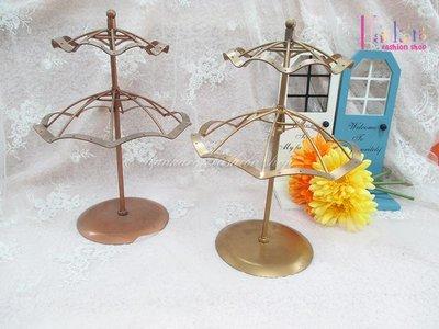 ☆[Hankaro]☆創意鐵藝雙層旋轉雨傘造型耳環架(樣品出清)