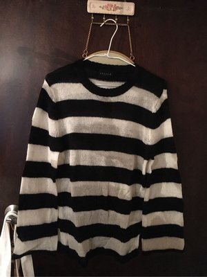 agnes b sport b黑白條紋針織毛衣 台北市