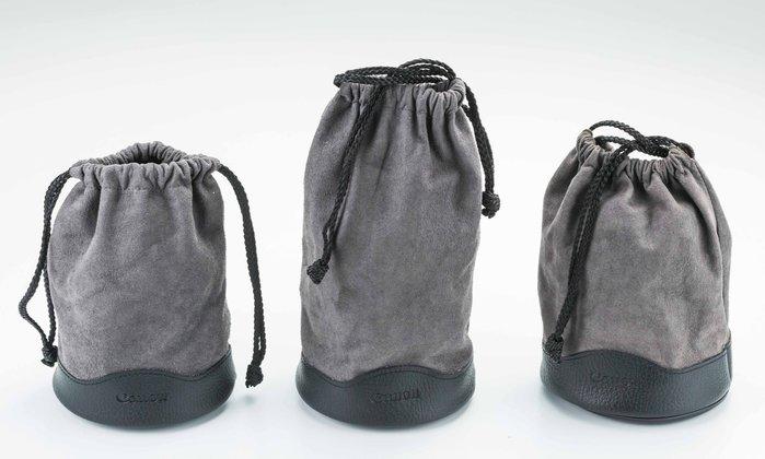 呈現攝影-Canon 原廠L鏡鏡頭袋 LP1219 LP1224 LP1319麂皮布束口袋 12x24cm 保護袋清潔布