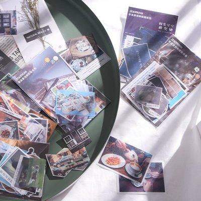 戀物星球 原創 風景旅行系列和紙手帳貼紙包手賬相冊物品裝飾封口貼DIY貼畫/滿200發貨