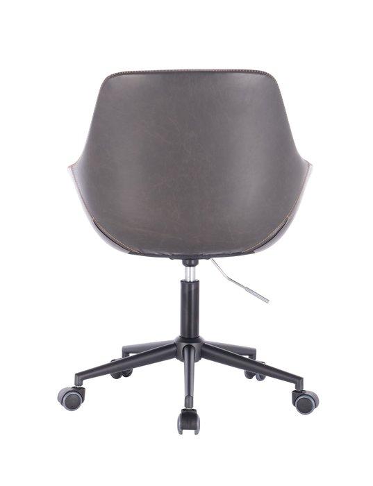 [ 椅子王 ]---復古皮 扶手辦公椅 + W縫線