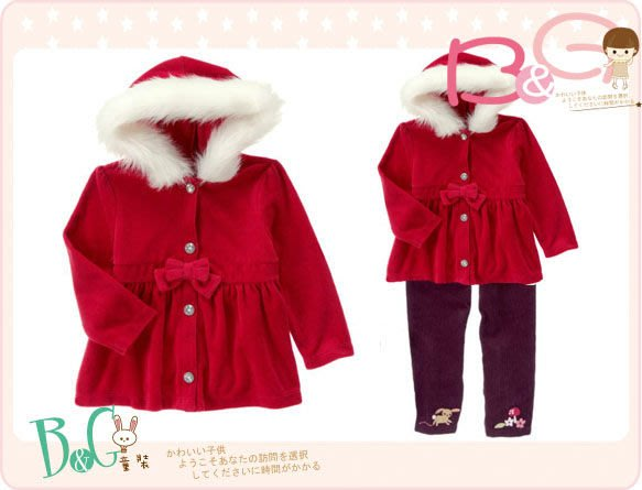 【B& G童裝】正品美國進口Crazy8 紅色長袖絨質連帽外套18-24mos,4,5yrs