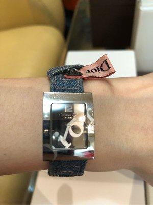 Christian Dior 迪奧 Logo時尚手錶 可自行更換錶帶 瑞士製造 8.5成新 有購買6款原廠錶帶 共7款 附錶盒 保證卡
