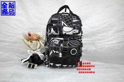 優買二手精品名牌店 PRADA 2VZ013 黑 卡通 漫畫 尼龍 防水 拉鍊 肩背包 胸口包 後背包 霹靂包 全新