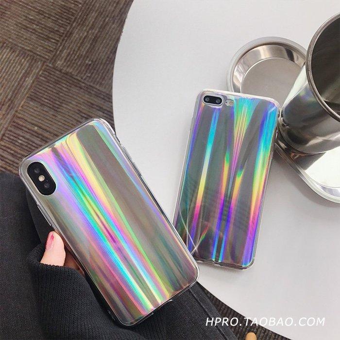 999蘋果手機殼 保護套 矽膠 硬軟殼 網紅同款鐳射6splus蘋果x手機殼XS/XR/Max/iPhone8plus/7/5s女款