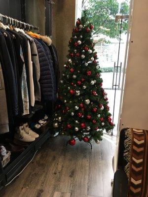 海迪 聖誕櫥窗裝飾用品 210CM高實拍紅銀聖誕球裝飾聖誕樹擺件!