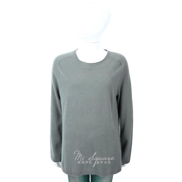 米蘭廣場 ALLUDE 100%喀什米爾灰綠色圓領針織羊毛衫 1740219-36
