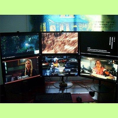 5Cgo【權宇】雙屏 銀幕 顯示器鋁合金支架10~27吋 可任意角度 最大重量15Kg 含稅會員扣5%
