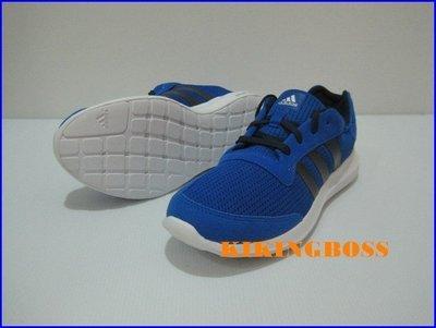【喬治城】ADIDAS ELEMENT REFRESH M  慢跑鞋 藍色 特價1490元 AQ2218 超取免運