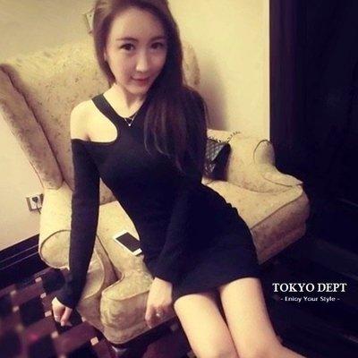 TOKYO DEPT【E8769】韓氣質露肩.平口洋裝小洋裝小禮服洋裝韓雪紡洋裝露肩伴娘連身裙禮服絲
