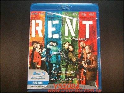 [藍光BD] - 吉屋出租 RENT ( 得利公司貨 ) - 榮獲舞台劇東尼獎的音樂劇改編