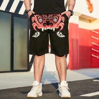 時尚服飾 胖子短褲男士夏季加肥加大潮胖沙灘休閑褲子寬松大碼肥佬五分褲