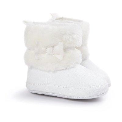 森林寶貝屋~白色蝴蝶結靴子~學步鞋~幼...
