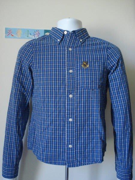 【天普小棧】abercrombie&fitch boulder brook shirt長袖格紋襯衫KIDS XL號