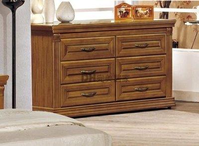 【DH】貨號B94-06《諾兒》4尺樟木色實木六斗櫃˙質感一流˙沉穩設計˙主要地區免運