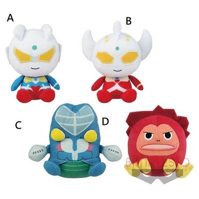 4165本通 日本景品 超人力霸王-毛絨玩偶 超人零奧特曼 塔羅 巴爾坦 外星人 全四款 39976 下標前請詢問
