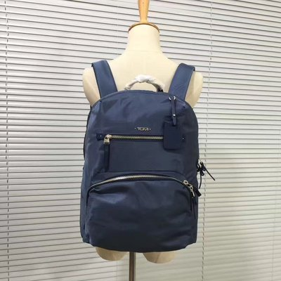 ╭☆包媽子店☆TUMI Voyageur系列 降落傘尼龍布休閒小號雙肩包 484758((灰藍色))