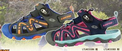 """""""爾東體育"""" LOTTO 磁扣護趾涼鞋 LT1AKS3386 LT1AKS3383 兒童涼鞋 運動涼鞋"""