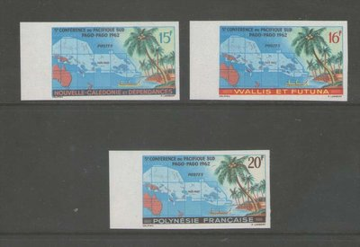 【雲品】法國French Polynesie 1962 Imperf.  MNH