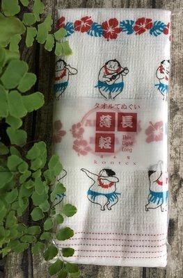 日本製 Kontex 今治毛巾 薄輕長 純綿 紗布 長毛巾 紗布巾運動毛巾 -相撲跳草裙舞