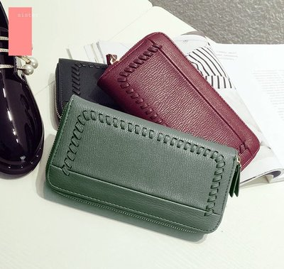 Sis  韓國 KOREA韓版 正韓貨 編織長夾 手拿 錢包 簡約 零錢包手機包