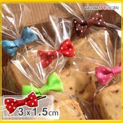 八號倉庫 烘焙餅乾點點蝴蝶結束口帶 糖果包裝袋【1F100Y348】