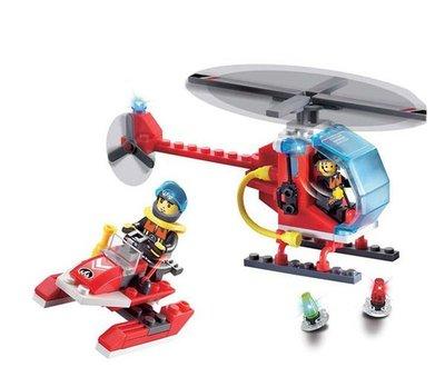~積木好好玩~~ ~啟蒙積木 消防系列~海上搜尋隊902 益智積木 兒童玩具與樂高相容