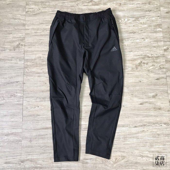 (貳柒商店) adidas O1 Pants Twill 男款 黑色 長褲 休閒 防風 修身 FM9372
