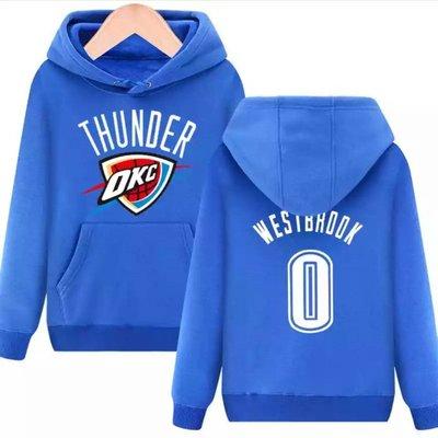 💖威少Russell Westbrook長袖連帽T恤上衛衣💖NBA雷霆隊Adidas愛迪達運動籃球服大學棉T男773