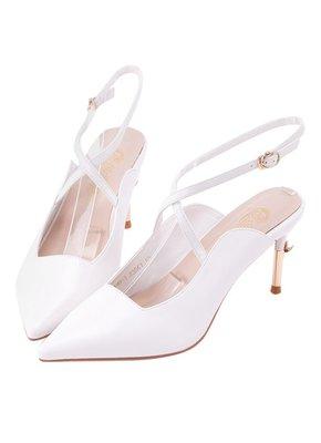 預訂台灣Grace Gift-美少女戰士彎月神杖尖頭高跟鞋(白)