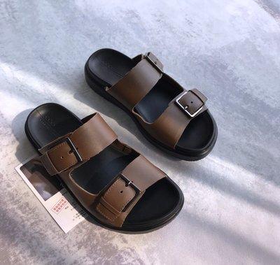 ECCO 2020 新款男涼鞋 簡約懶人拖鞋沙灘鞋 柔暢奢華 273824 橄欖綠 39-44碼
