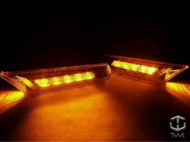 《※台灣之光※》全新PORSCHE保時捷BOXSTER 996 986 911 LED晶鑽透明邊燈側燈組