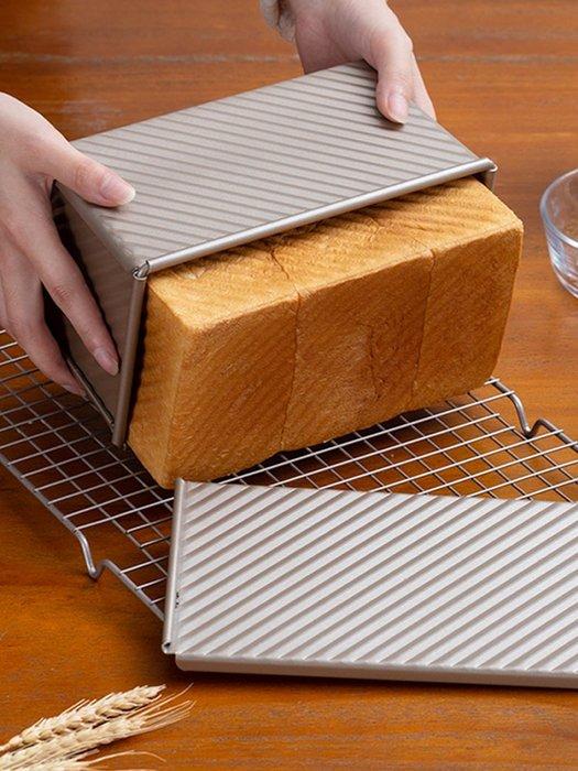 千夢貨鋪-450克吐司模具帶蓋土司面包模具吐司盒子烤箱烘焙家用磨#搟面杖#菜板#長筷子#實木#打蛋器