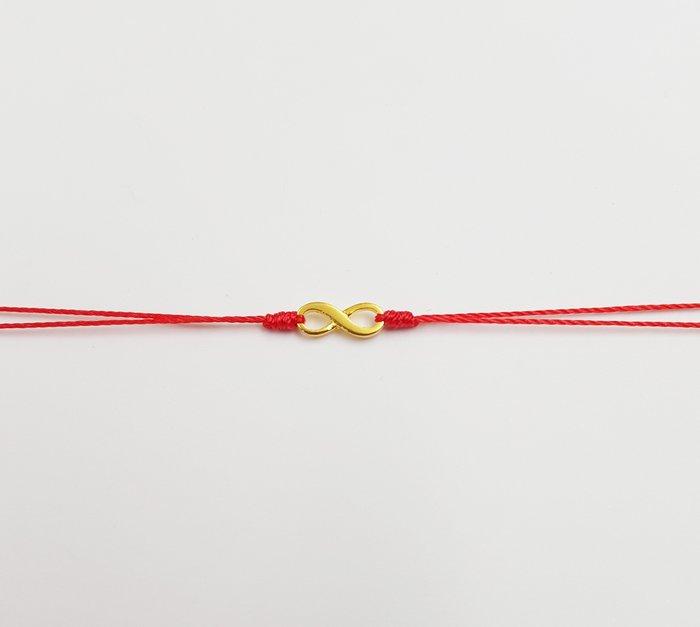 [Le Bonheur Line] 幸福線 手工/金色 愛 無限 符號/紅線 手鍊 redline 極簡(改雙線)