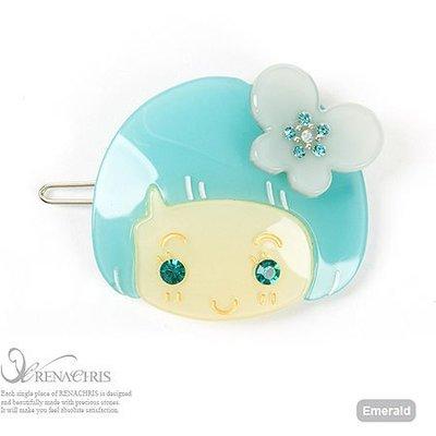 BHI794-法國品牌RenaChris 施華洛世奇晶鑽洋娃娃髮夾 邊夾 扣夾【韓國製】