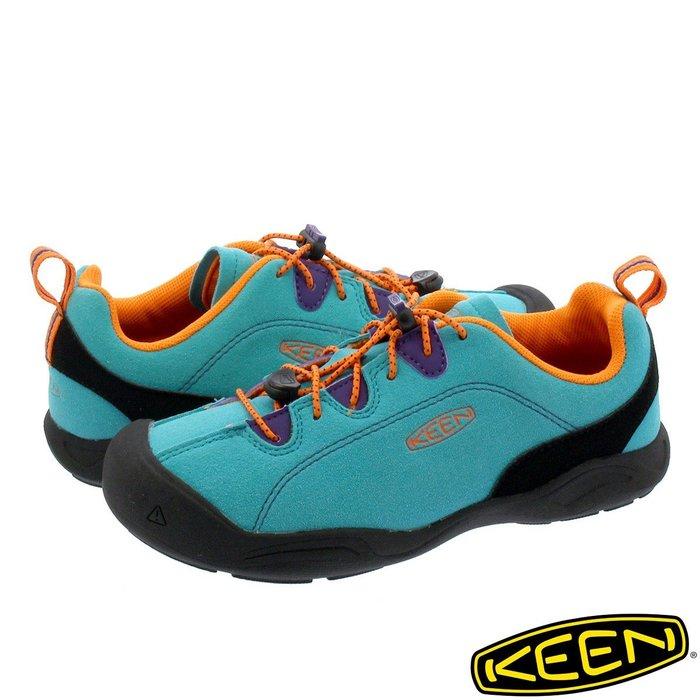 =CodE= KEEN JASPER ROCKS SP 麂皮多功能慢跑健行鞋(土耳其藍黑橘) 1019680 大童 男女